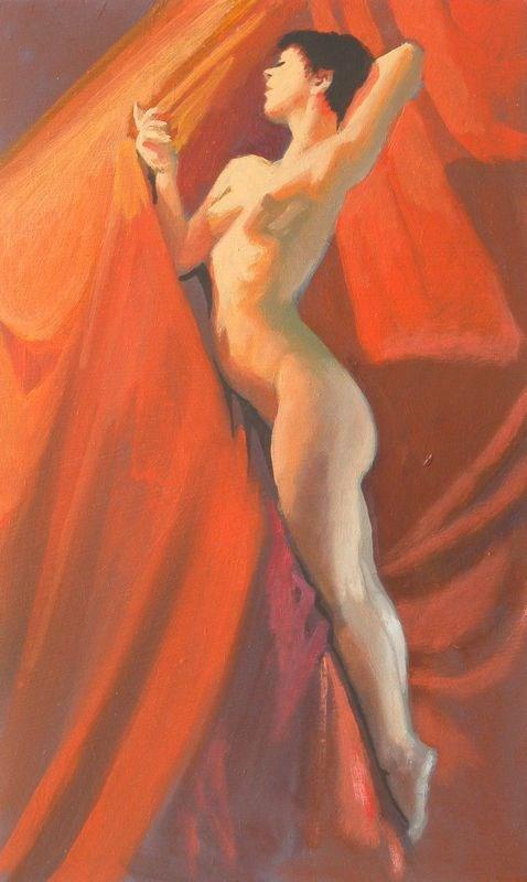 """""""Diagonal pose"""" original fine art by Peter Orrock"""
