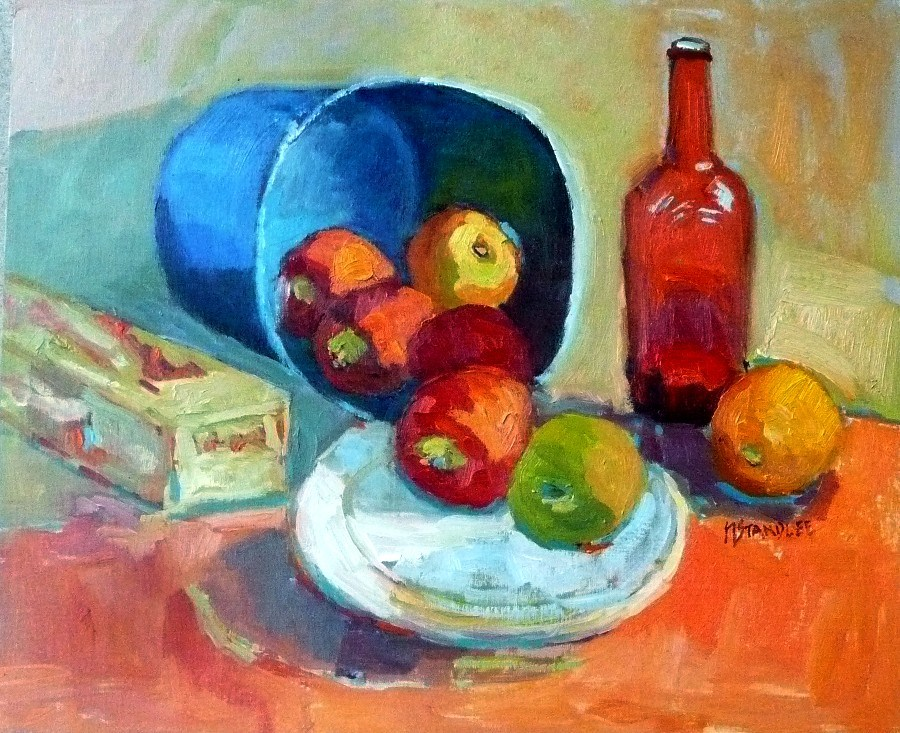 """Bunkhouse Apples, 12131"" original fine art by Nancy Standlee"
