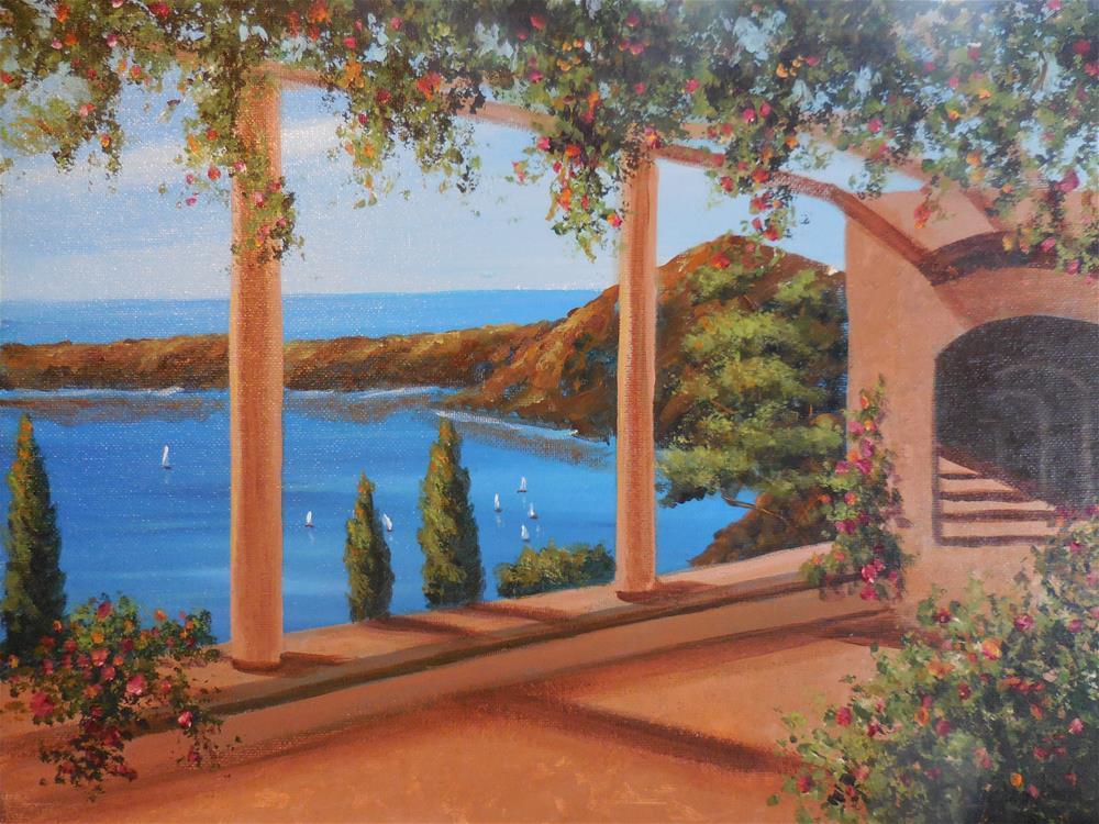 """View From the Veranda"" original fine art by Terri Nicholson"