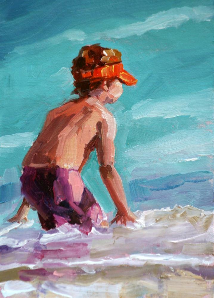 """in position"" original fine art by Carol Carmichael"
