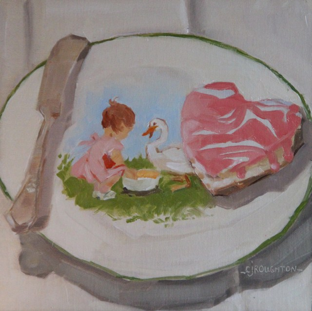 """""""Treats For All On This Lovely Valentine's Day"""" original fine art by C J Roughton"""