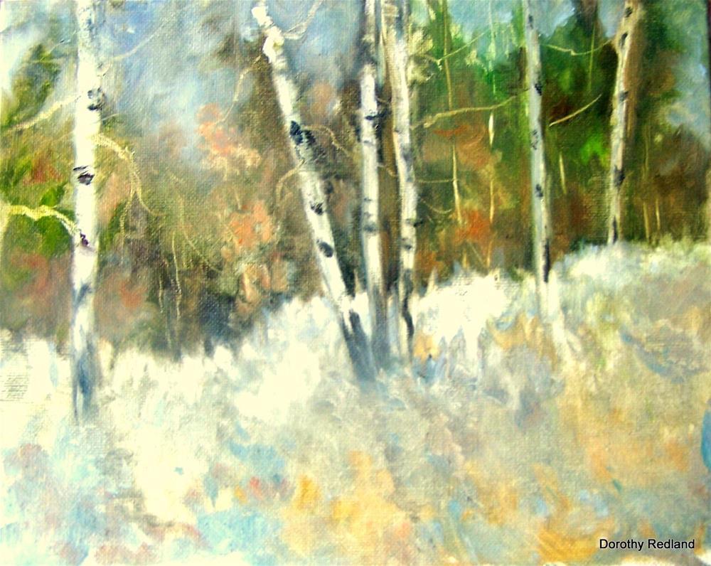 """Aspen  ,again"" original fine art by Dorothy Redland"