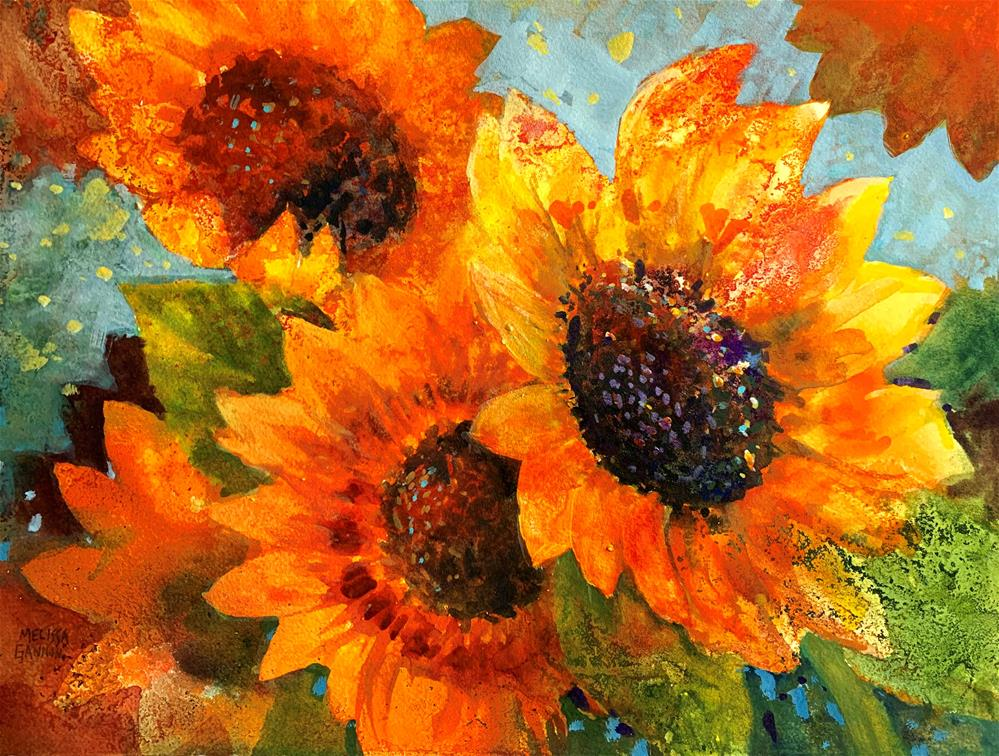 """Sun in Flowers"" original fine art by Melissa Gannon"