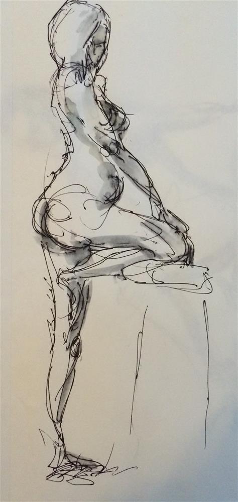 """""""Nude 3"""" original fine art by Naomi Bautista"""