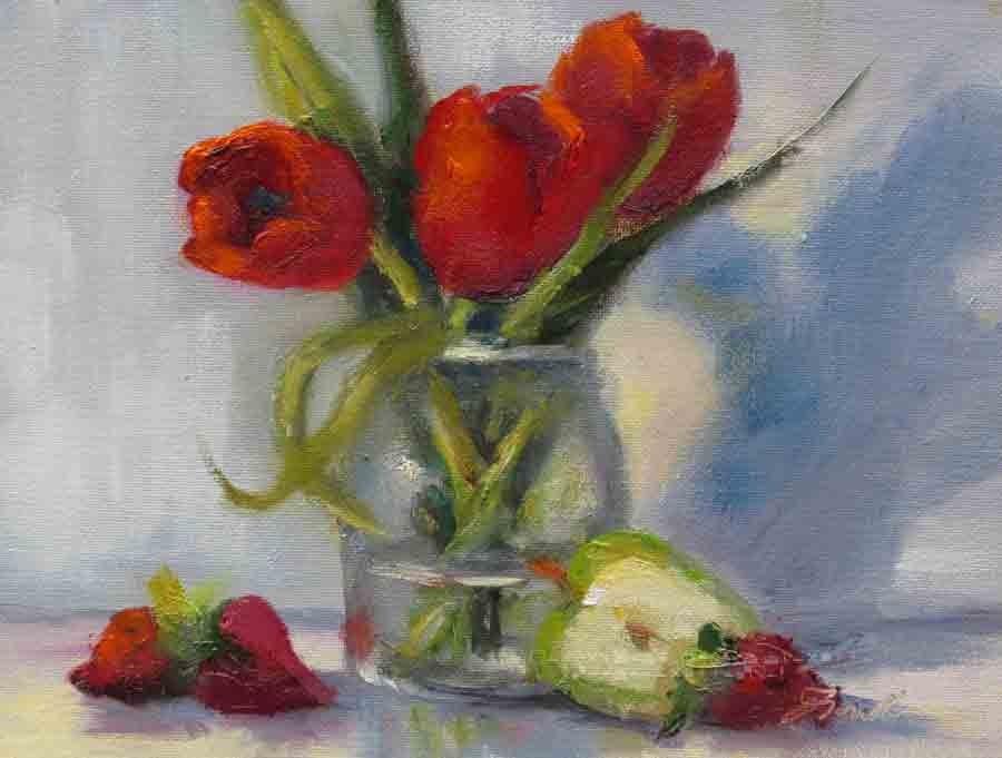 """""""Tulip Delight"""" original fine art by Pat Fiorello"""