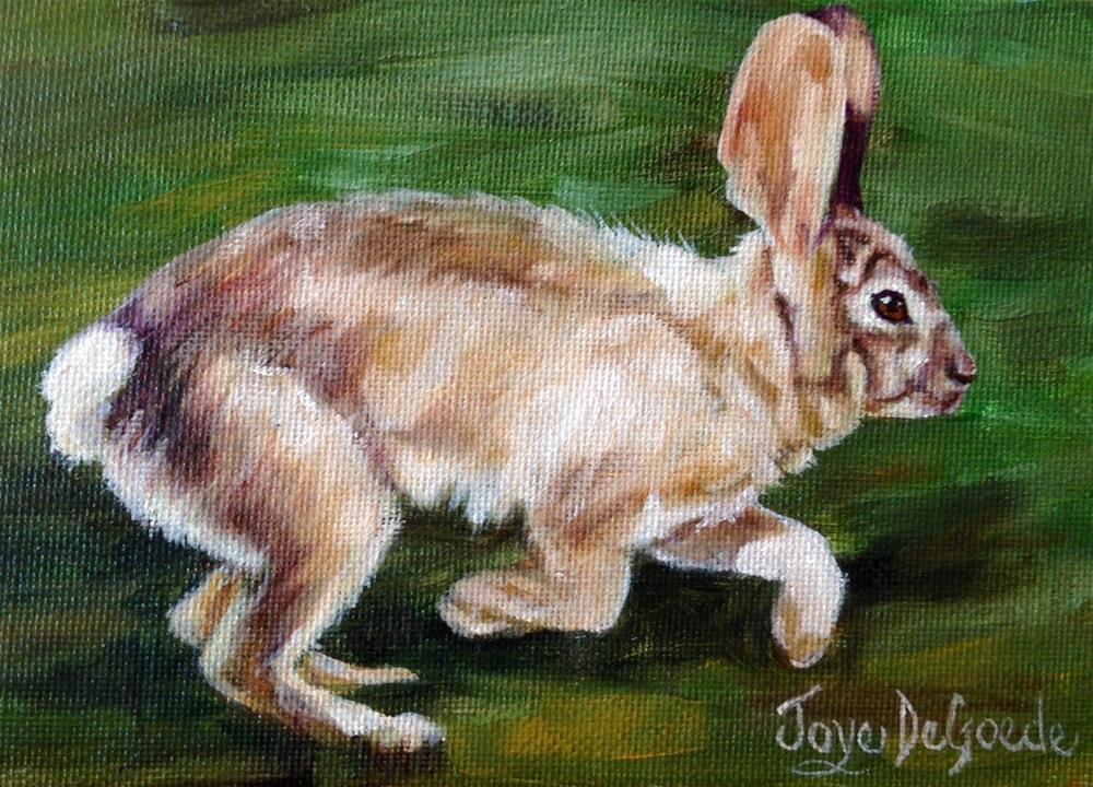 """""""Quick Like A Bunny (c) by Joye DeGoede"""" original fine art by Joye DeGoede"""