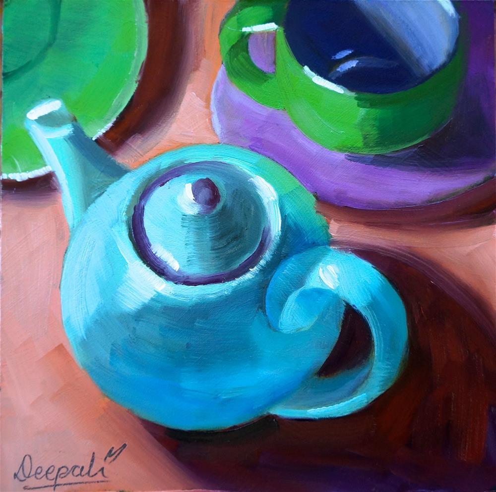 """Teapot"" original fine art by Dipali Rabadiya"