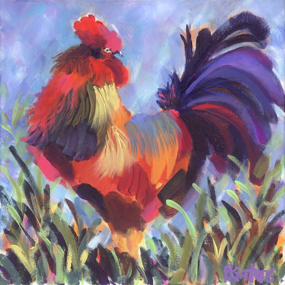 """""""Barnyard Boss"""" original fine art by Pamela Gatens"""