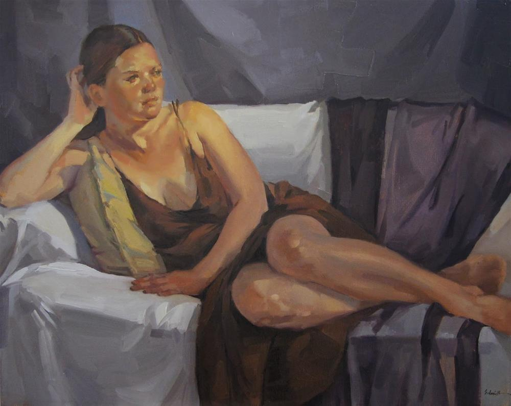 """The Brown Dress"" original fine art by Sarah Sedwick"