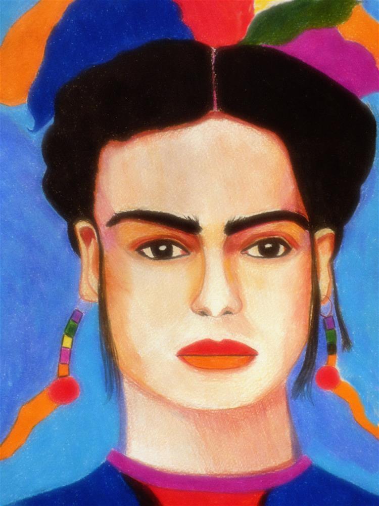"""Fridocha, My Lovely"" original fine art by Terri Brown-Davidson"