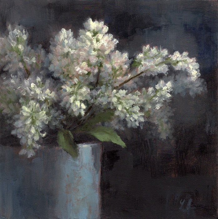 """Lilacs"" original fine art by Linda Jacobus"