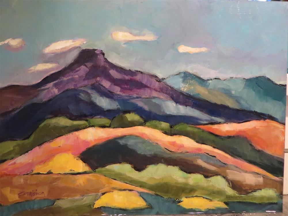 """697 The Pedernal"" original fine art by Diane Campion"