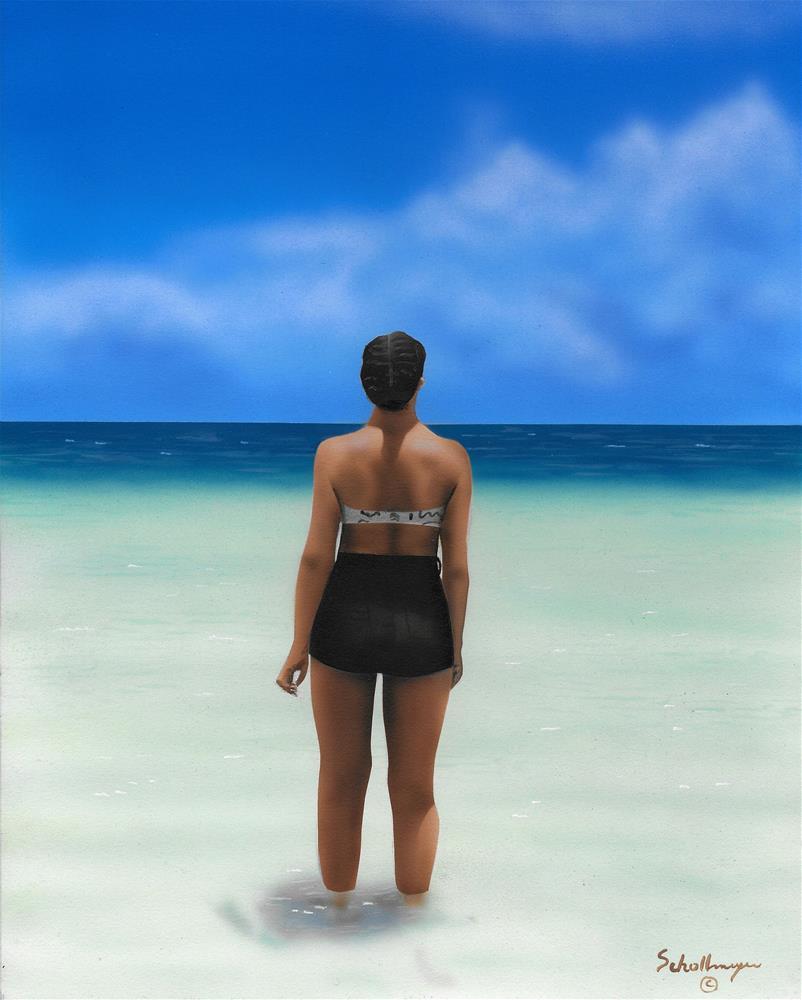 """Somewhere Beyond the Sea"" original fine art by Fred Schollmeyer"