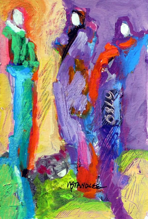"""City Lights 11111"" original fine art by Nancy Standlee"