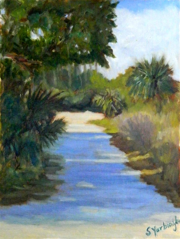 """Down the Path"" original fine art by Sharon Yarbrough"
