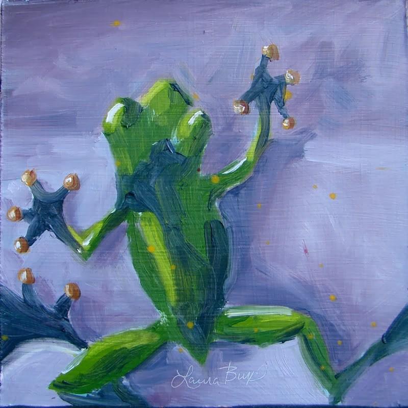 """Gregory - 97"" original fine art by Laura  Buxo"