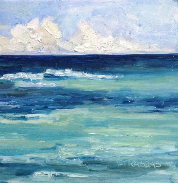 """Azure"" original fine art by Marcela Strasdas"