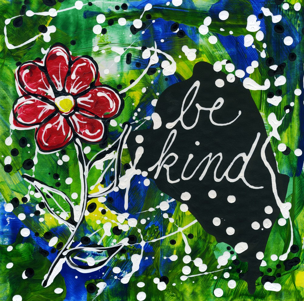 """Be Kind"" original fine art by Kali Parsons"
