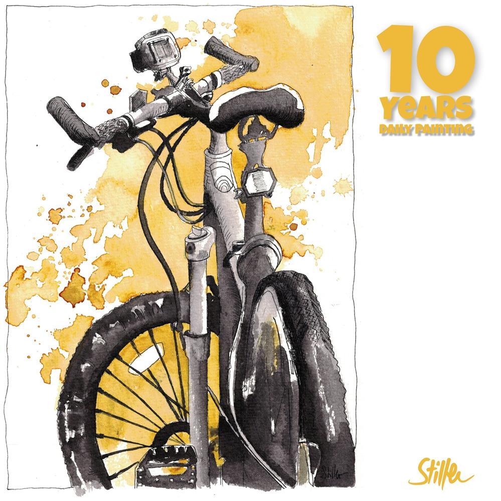"""3670 Bikey Bike"" original fine art by Dietmar Stiller"