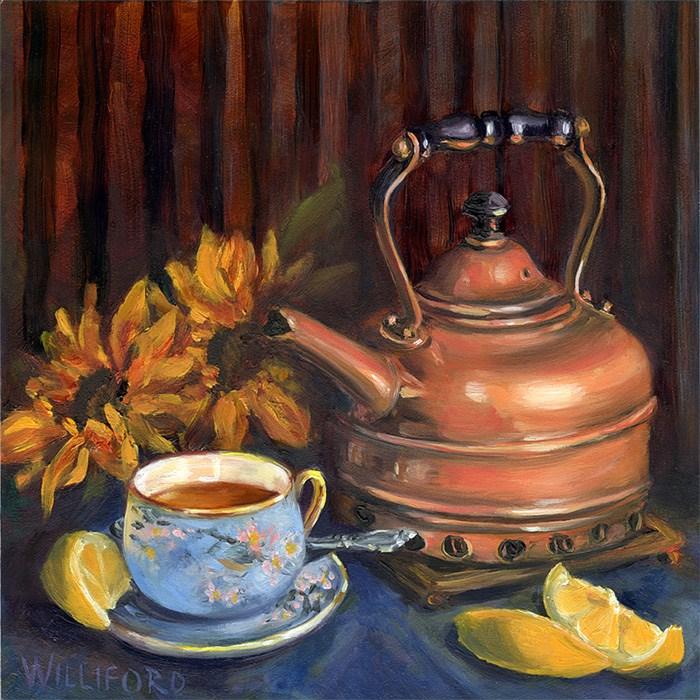 """""""Tea with Lemon"""" original fine art by Kathleen Williford"""