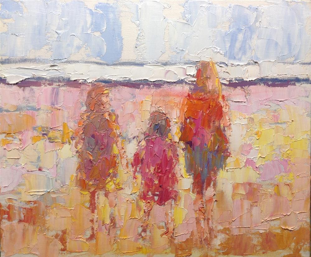 """Let's look at the waves"" original fine art by Joseph Mahon"