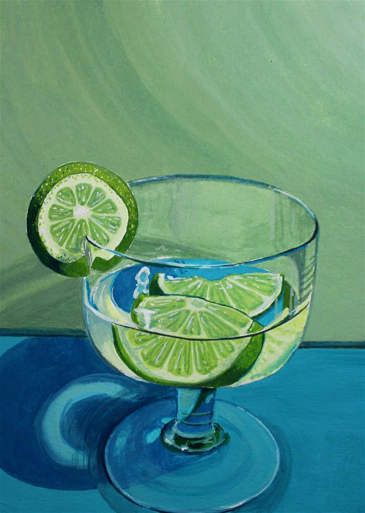 """""""Slices of Lime"""" original fine art by Brandy Woodford"""