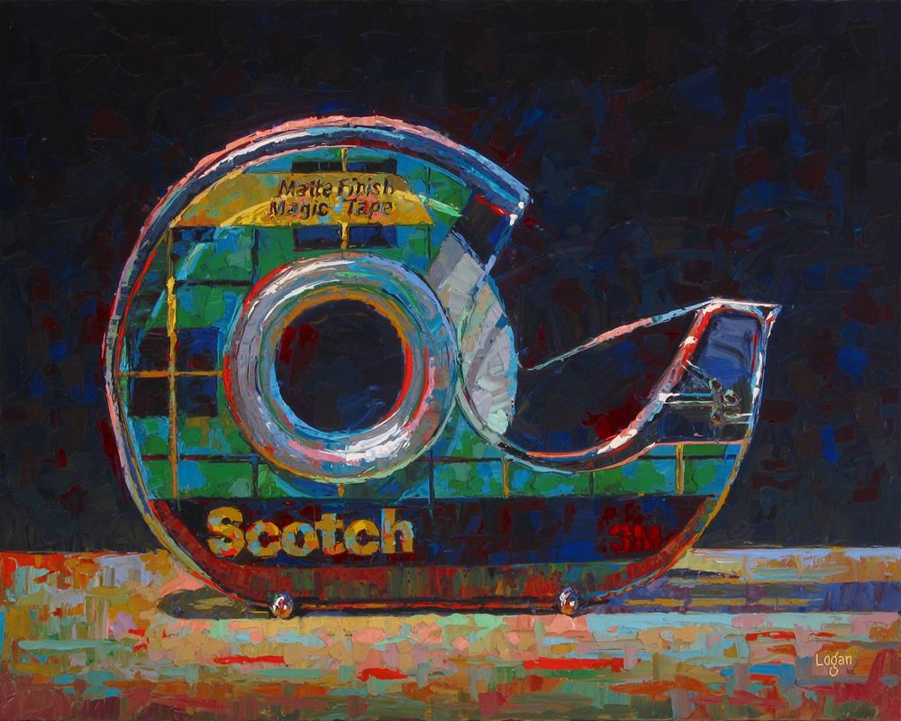 """Scotch Tape"" original fine art by Raymond Logan"