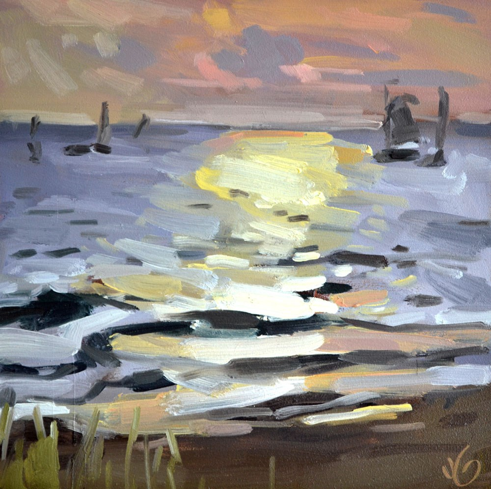 """""""Sunset South Haven"""" original fine art by Jessica Green"""