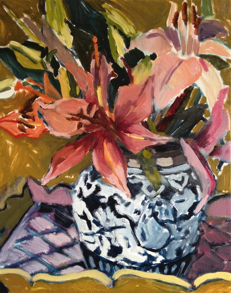 """Carnation, Lily, Lily, Rose"" original fine art by Pamela Hoffmeister"