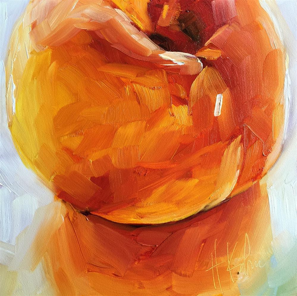 """Peach 1"" original fine art by Hallie Kohn"