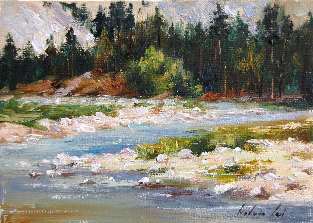 """Pebble Beach"" original fine art by Kelvin Lei"