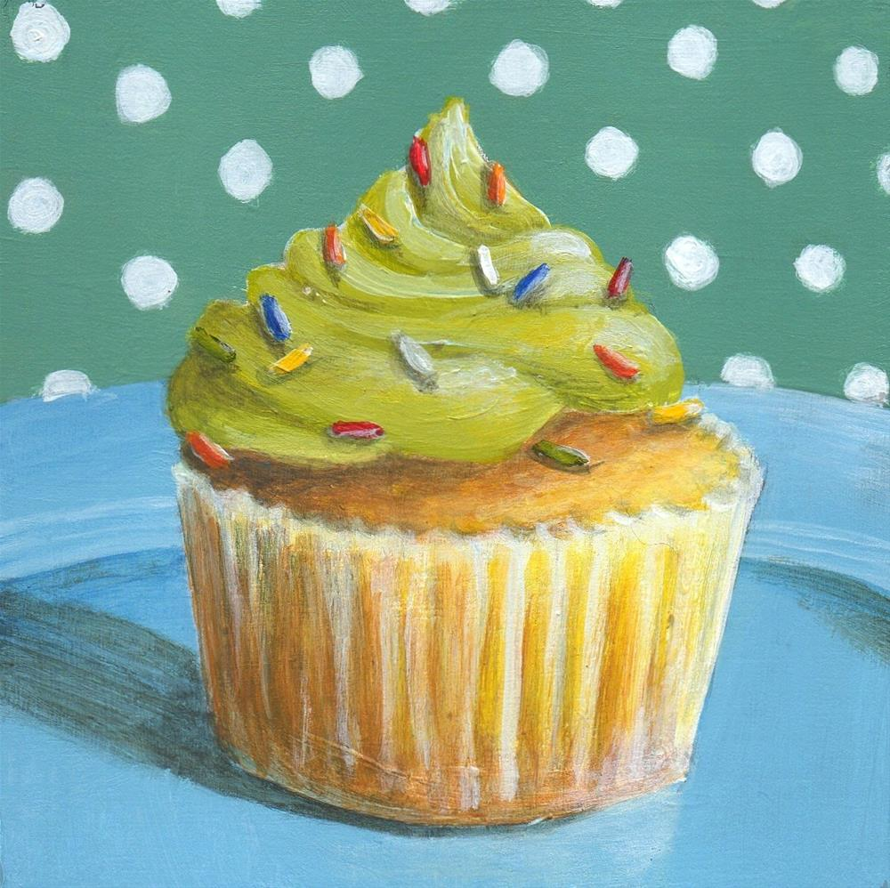 """Cupcake #4"" original fine art by Debbie Shirley"