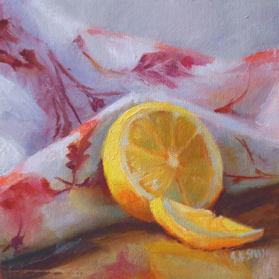 """Making Lemonade"" original fine art by A.K. Simon"