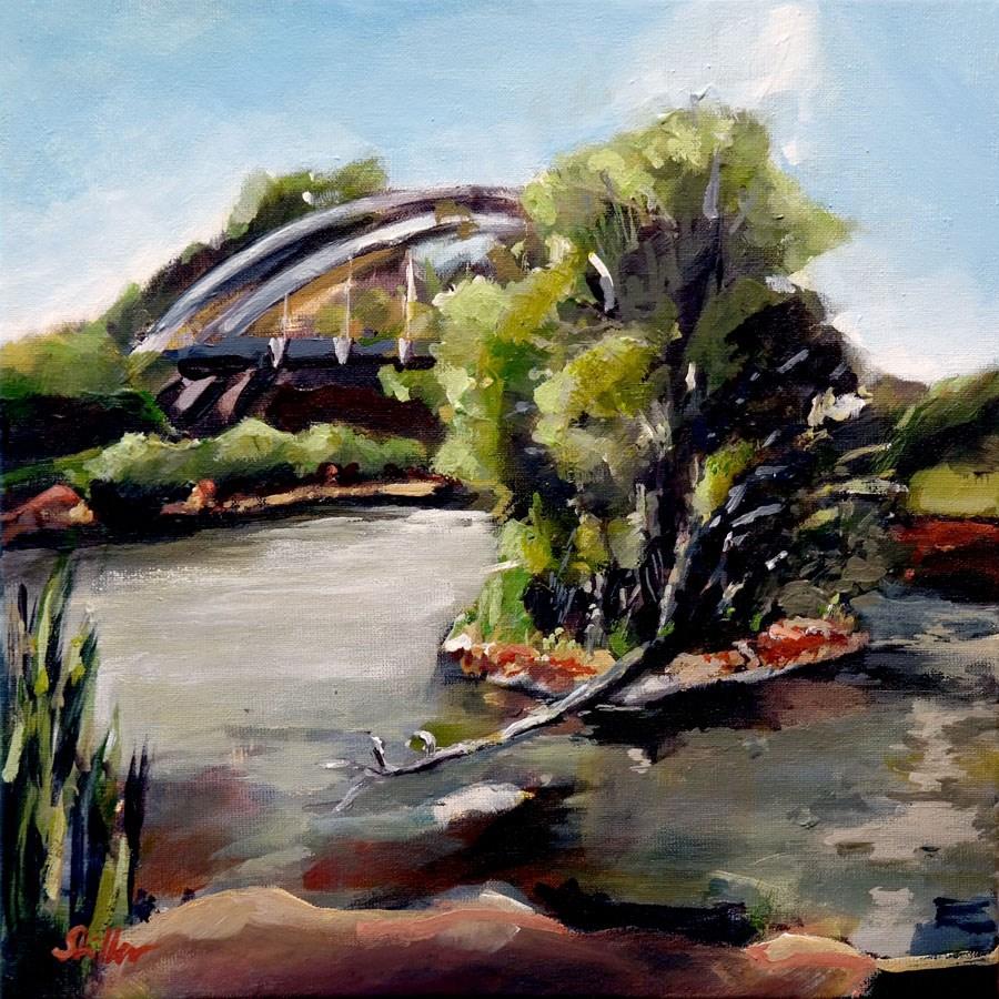 """""""1770 Canal Section"""" original fine art by Dietmar Stiller"""