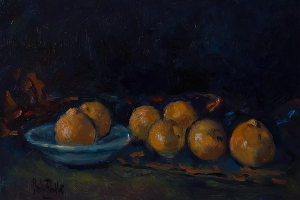 """Satsumas and Bowl"" original fine art by Andre Pallat"