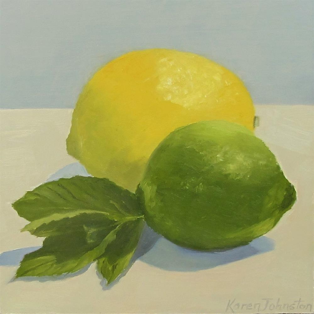 """""""Lemon Lime and Mint"""" original fine art by Karen Johnston"""