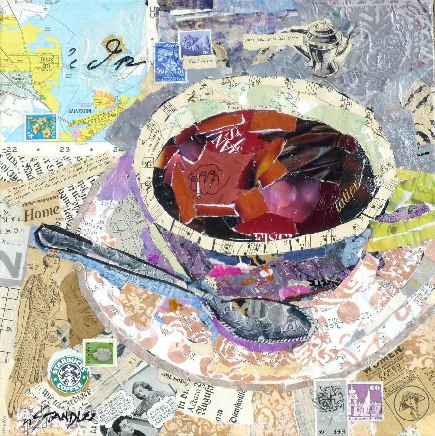 """Good Coffee 13073"" original fine art by Nancy Standlee"