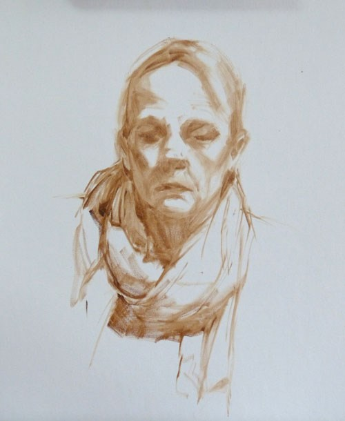 """oil portrait practice - day 10"" original fine art by Rita Kirkman"