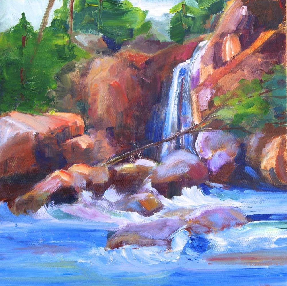 """Waterfall Splash"" original fine art by Reveille Kennedy"