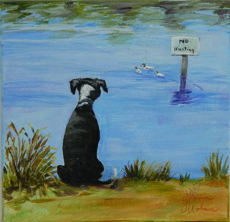 """No Hunting"" original fine art by Gloria Urban"