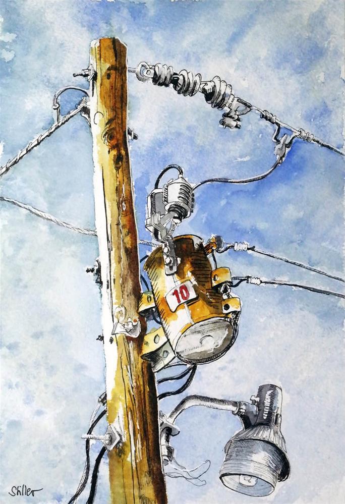 """3058 Mast Operation 01"" original fine art by Dietmar Stiller"