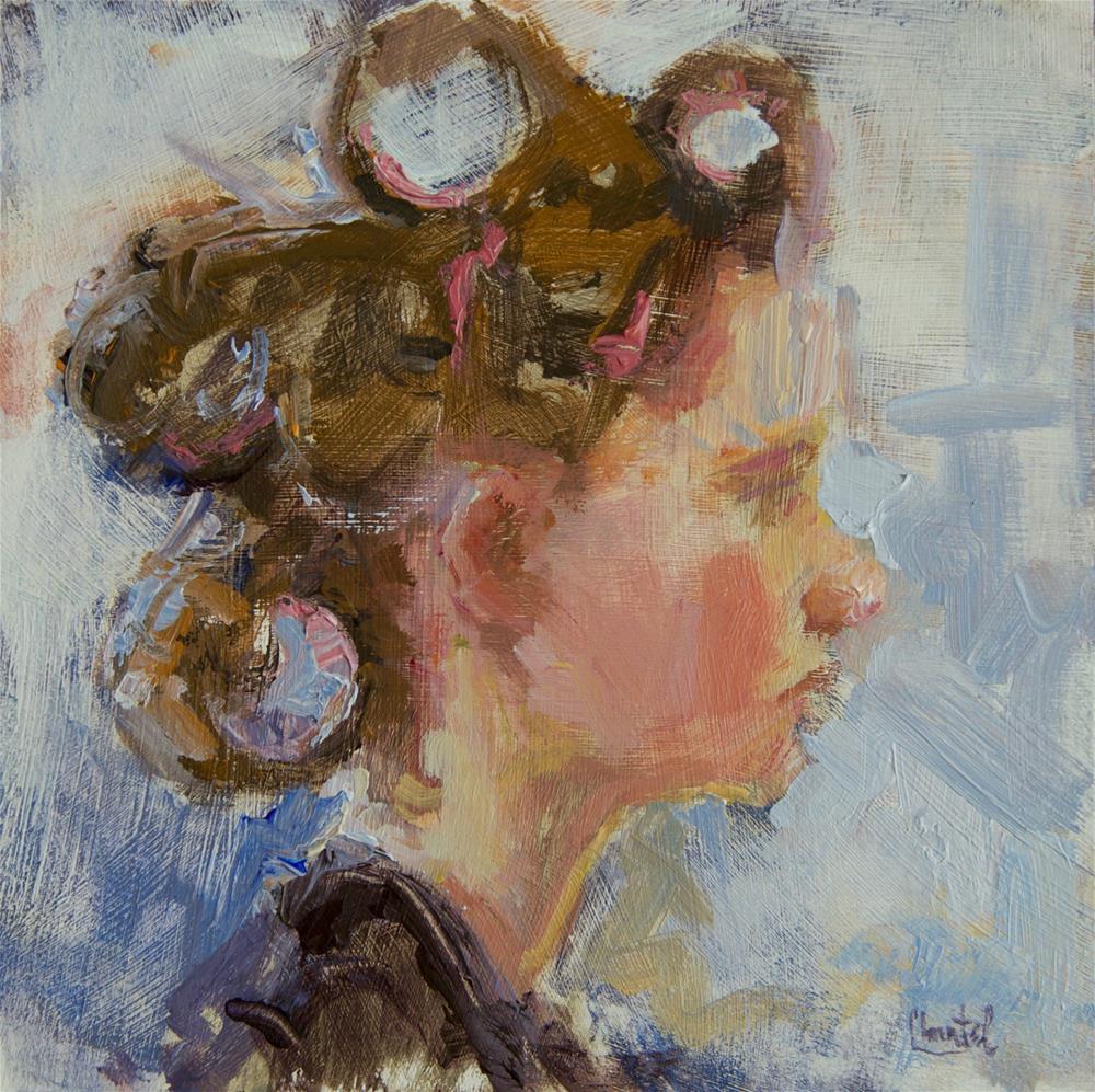 """Curler Princess"" original fine art by Chantel Barber"