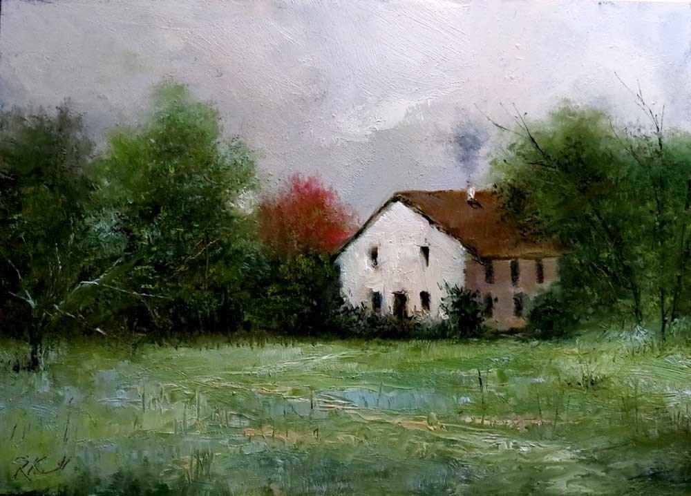 """An Old Farmhouse"" original fine art by Bob Kimball"