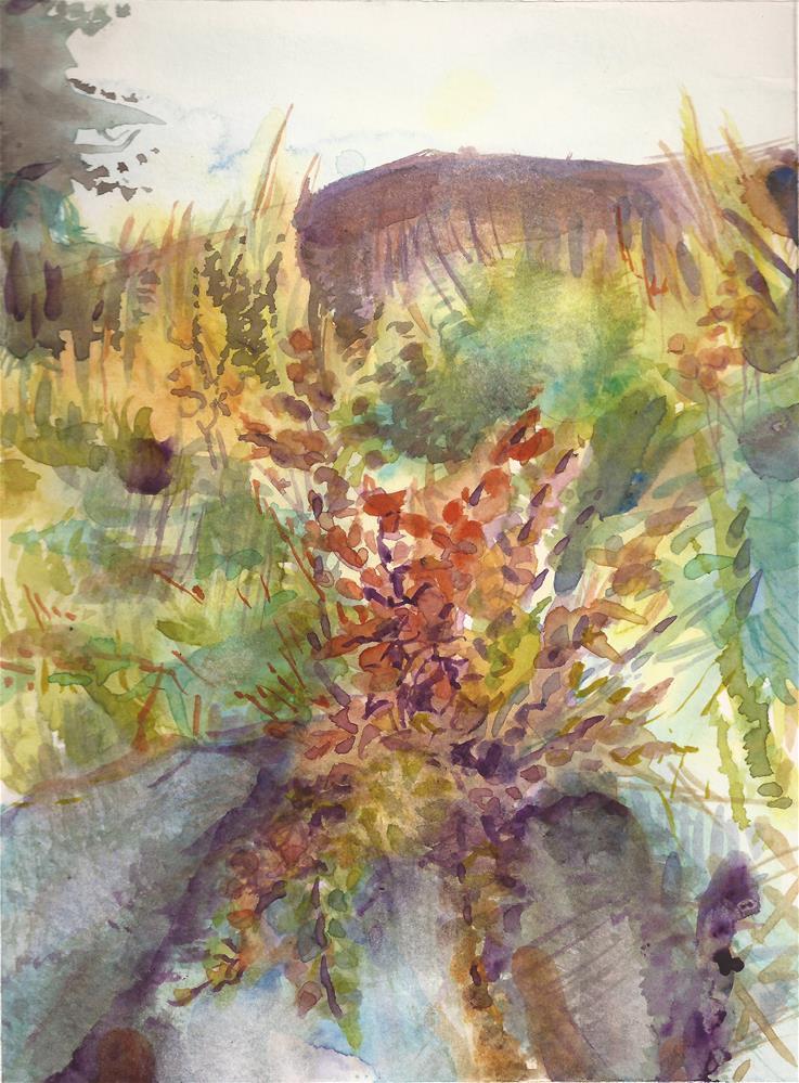 """""""Camp Ground Weeds"""" original fine art by Jean Krueger"""
