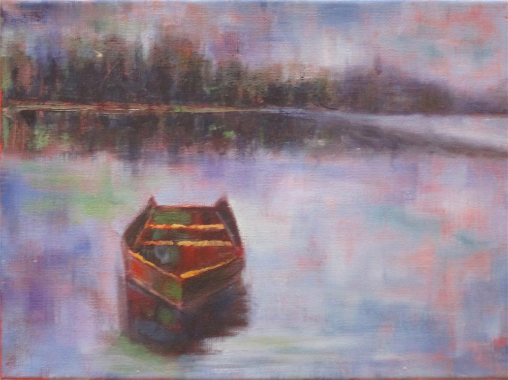 """""""The Rowboat"""" original fine art by Barbara Wagner"""