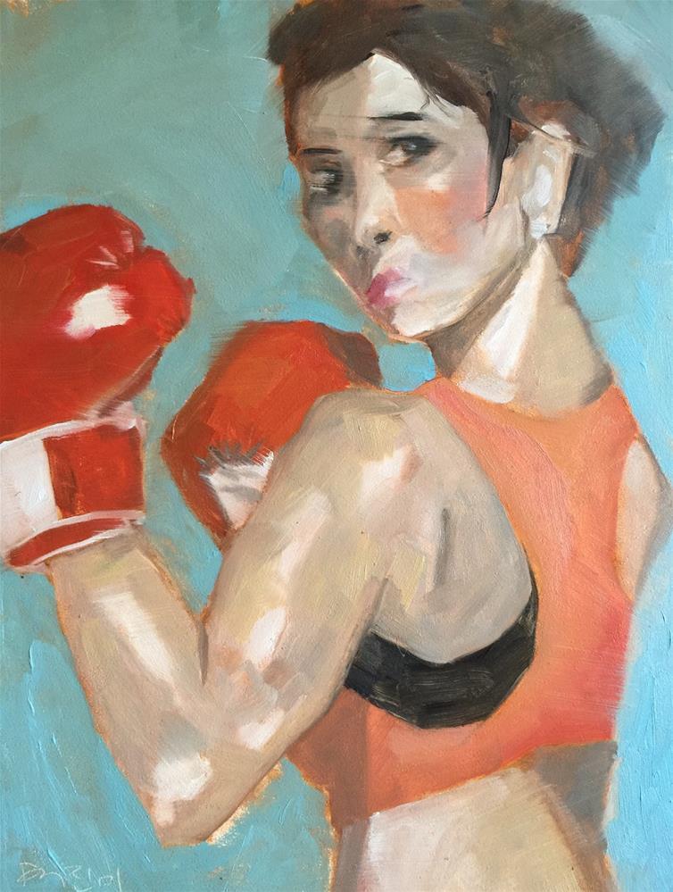 """""""105 Fight Like a Girl"""" original fine art by Jenny Doh"""