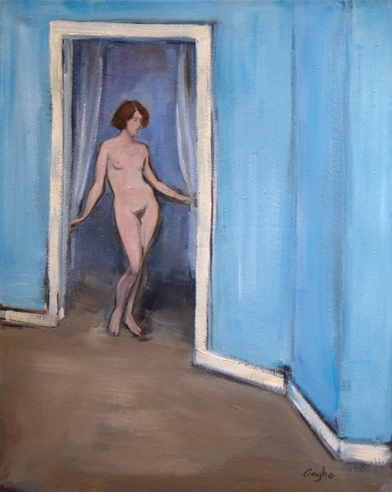 """Nude Entering Room"" original fine art by Angela Ooghe"