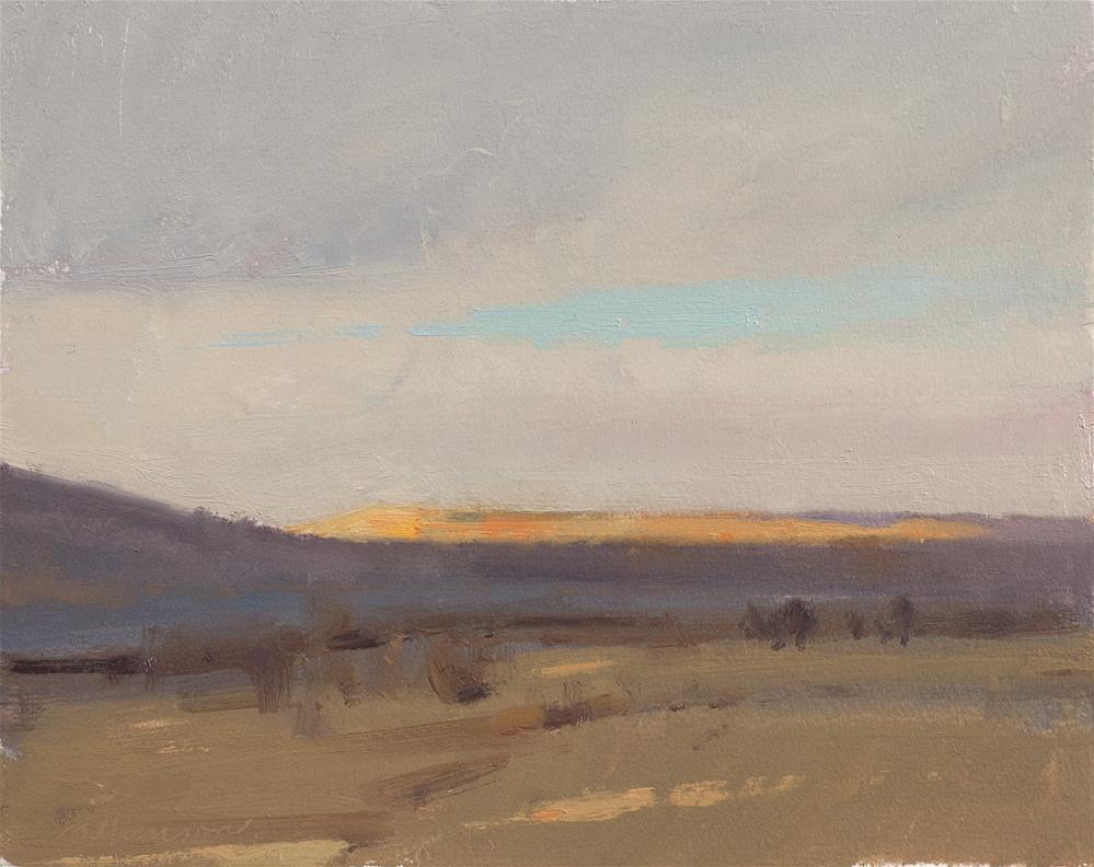 """""""2-24-5 Prairie Dog Whistles in the Wind"""" original fine art by Marc Hanson"""