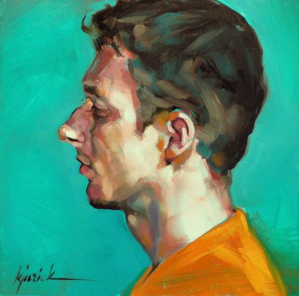 """200 Faces, No. 128"" original fine art by Karin Jurick"
