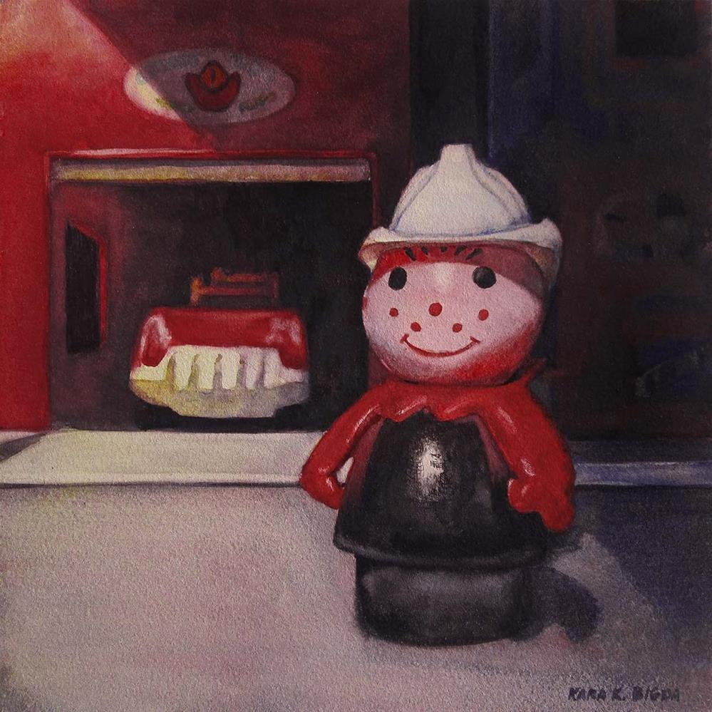 """The Fireman"" original fine art by Kara K. Bigda"